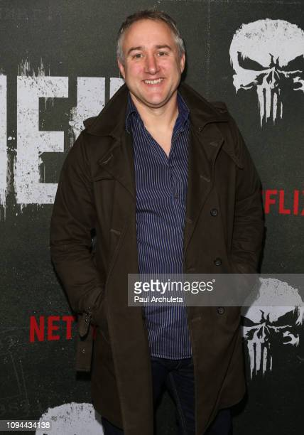 Writer / Producer Steve Lightfoot attends Marvel's The Punisher Los Angeles premiere at the ArcLight Hollywood on January 14 2019 in Hollywood...