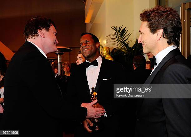 Writer Quentin Tarantino writer Geoffrey Fletcher winner of Best Adapted Screenplay for 'Precious Based on the Novel 'Push' by Sapphire' and producer...