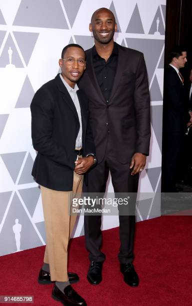 Writer Raphael Saadiq and Kobe Bryant attend the 90th Annual Academy Awards Nominee Luncheon at The Beverly Hilton Hotel on February 5 2018 in...
