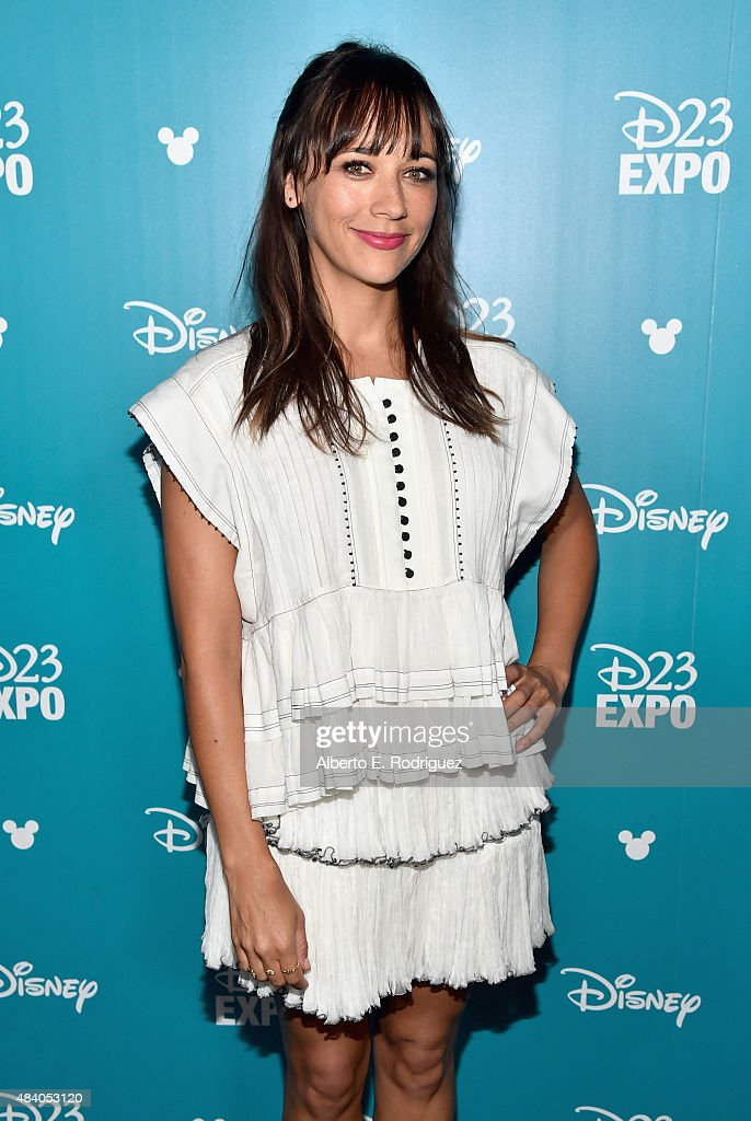 Writer Rashida Jones of TOY STORY 4 took part today in 'Pixar and Walt Disney Animation Studios: The Upcoming Films' presentation at Disney's D23 EXPO 2015 in Anaheim, Calif.