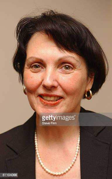 Writer Rebecca Hughes poses for pictures following the second night of Her play 'Final Judgement' at the Theatre Royal Windsor on July 21 2004 in...