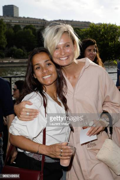 Writer Renu Kashyap and Model Inguna Butane attend 'Ibiza Boheme' Launch Party by BHV Le Marais on June 7 2018 in Paris France