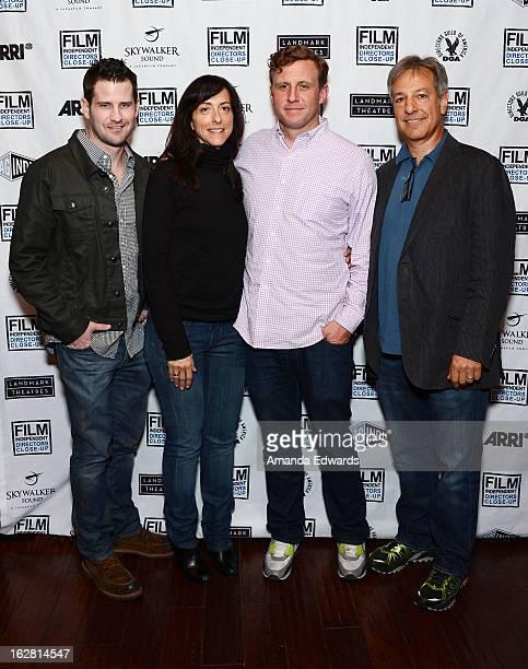 Writer Richard Kelly costume designer Mary Zophres director Ruben Fleischer and editor Alan Baumgarten attend the Film Independent's Directors...