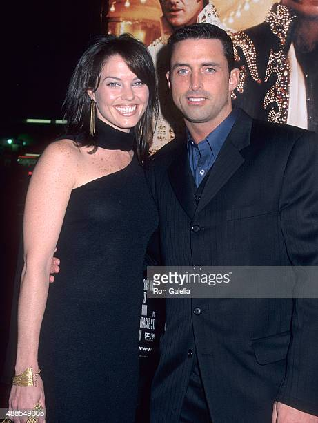 Writer Richard Recco and wife Donnamarie attend the 3000 Miles to Graceland Hollywood Premiere on February 20 2001 at the Mann's Chinese Theatre in...