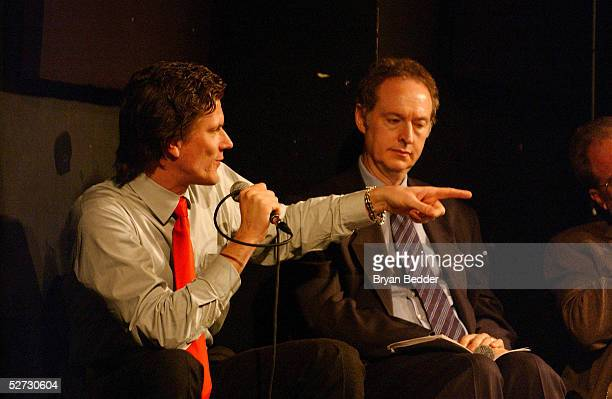 Writer Rick Karr and Atorney Richard B. Heller attend the Tribeca Film Festival Music Panel At The ASCAP Lounge at Kitting Factory during The Tribeca...