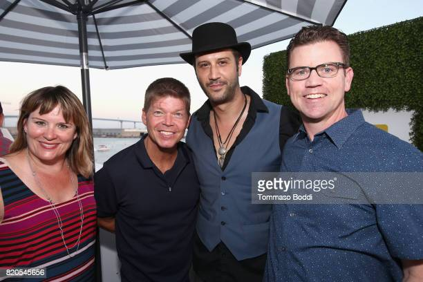 Writer Rob Liefeld actor Stefan Kapicic and COO of IMDb Rob Grady attend the #IMDboat Party at San Diego ComicCon 2017 Presented By XFINITY on The...