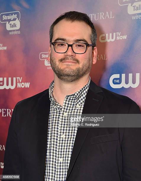 Writer Robbie Thompson attends the CW's Fan Party to Celebrate the 200th episode of 'Supernatural' on November 3 2014 in Los Angeles California