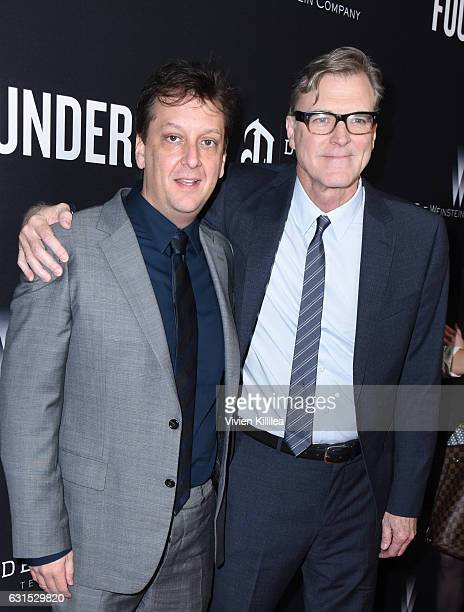 Writer Robert D Siegel and director John Lee Hancock attend 'The Founder' US Premiere Presented By DeLeon Tequila on January 11 2017 in Los Angeles...