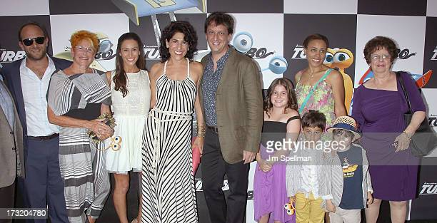 Writer Robert D Siegel and family attend the 'Turbo' New York Premiere at AMC Loews Lincoln Square on July 9 2013 in New York City