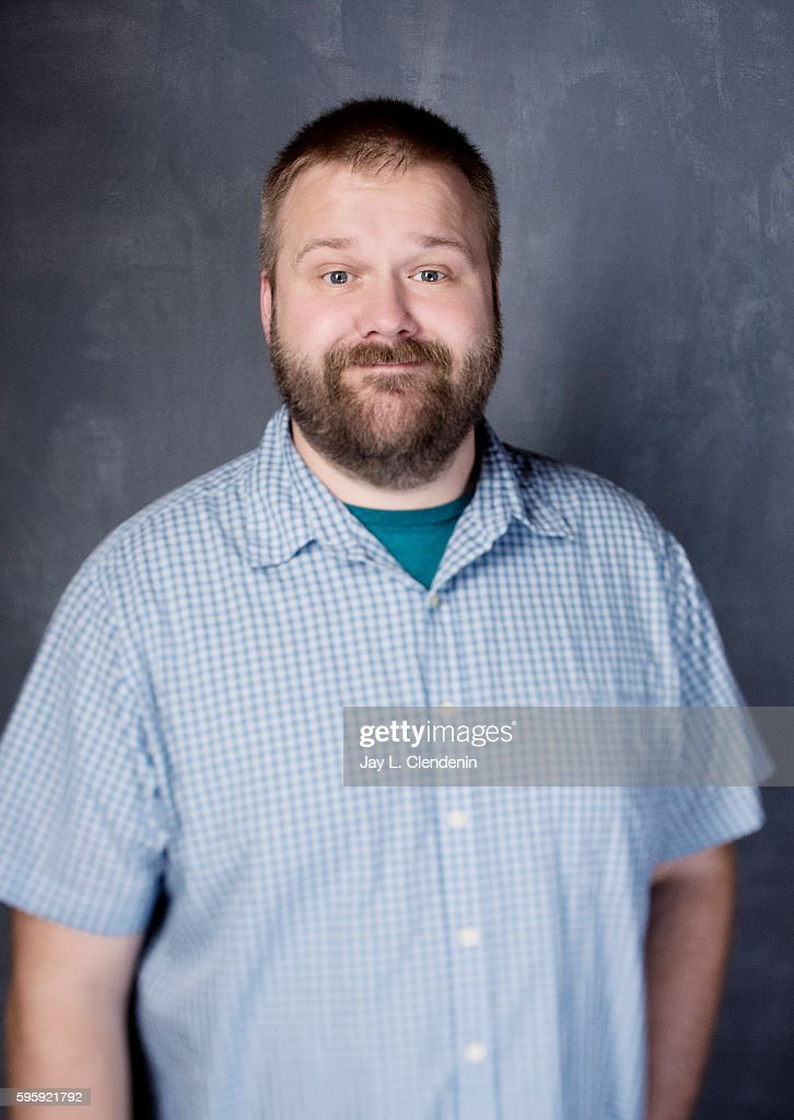 Writer Robert Kirkman of the television series ' Outcast' is photographed for Los Angeles Times at San Diego Comic Con on July 22, 2016 in San Diego, California.