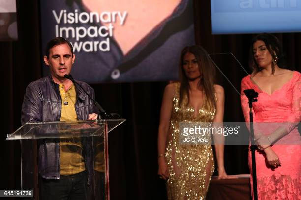 Writer Roberto Orci speaks onstage during the 20th Annual National Hispanic Media Coalition Impact Awards Gala at Regent Beverly Wilshire Hotel on...