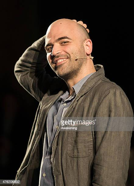 Writer Roberto Saviano attends Day 3 of RepIdee on June 6 2015 in Genoa Italy RepIdee is a community meeting of the Repubblica newspaper with autors...