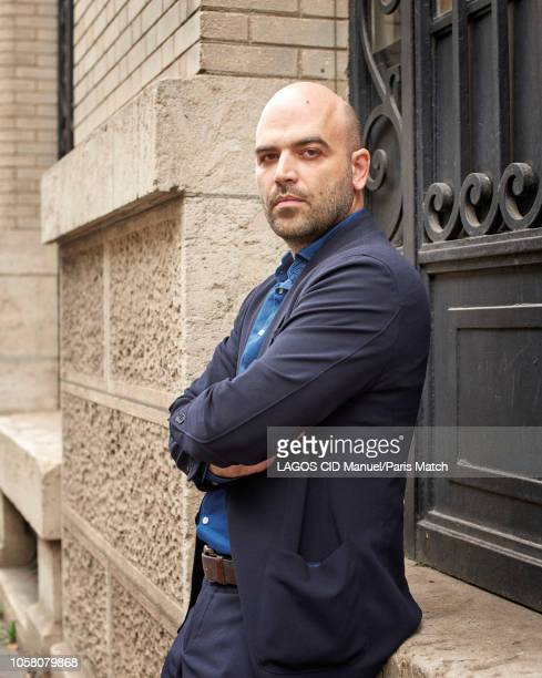 Writer Roberto Saviano is photographed for Paris Match on October 7 2018 in Paris France