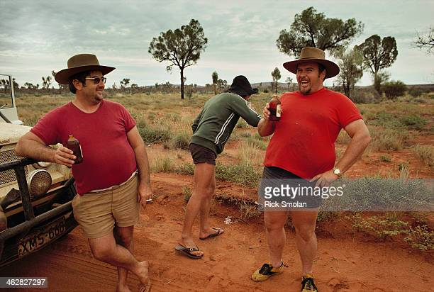 Writer Robyn Davidson is photographed for National Geographic in 1977 in the outback Australia The tourists Robyn encountered along the way were a...