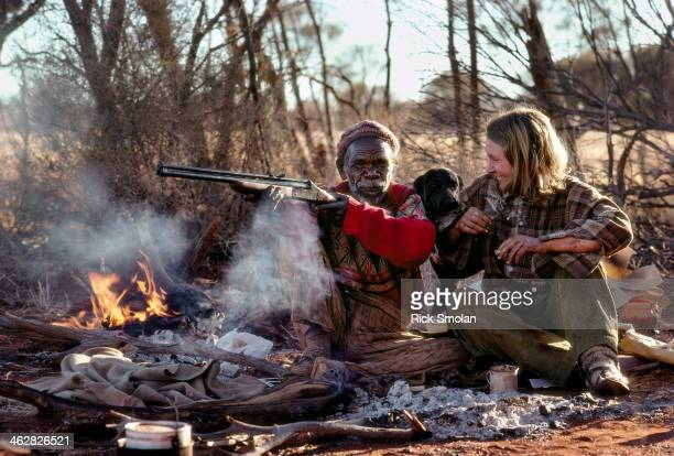 Writer Robyn Davidson is photographed with Mr Eddie for National Geographic in 1977 in the outback Australia Mr Eddies companionship opened Robyn up...