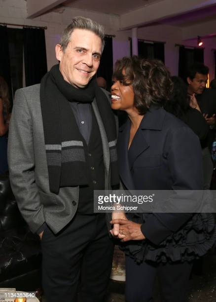 Writer Roderick Spencer and actress Alfre Woodard attend 'Juanita' Special Screening on March 07 2019 in New York City