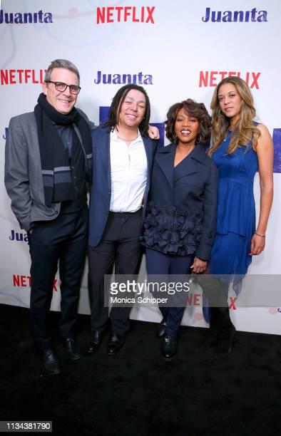 Writer Roderick Spencer Duncan Spencer Alfre Woodard and Mavis Spencer attend 'Juanita' Special Screening on March 07 2019 in New York City