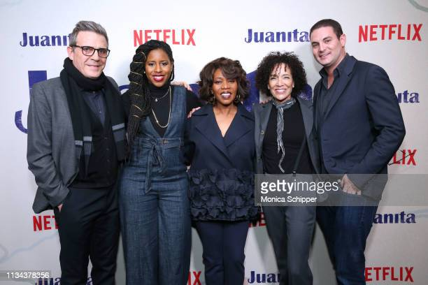 Writer Roderick Spencer producer Mel Jones actress Alfre Woodard producers Stephanie Allain and Jason Michael Berman attend 'Juanita' Special...