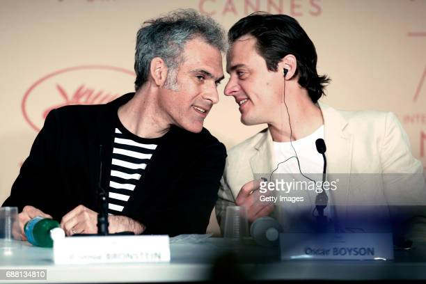 Writer Ronald Bronstein with producer Oscar Boyson attends the 'Good Time' press conference during the 70th annual Cannes Film Festival at Palais des...