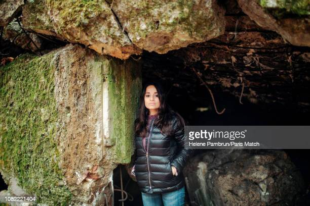 Writer Rosella Postorino is photographed for Paris Match at the Wolf's Lair on November 3 2018 in Ketrzyn Poland