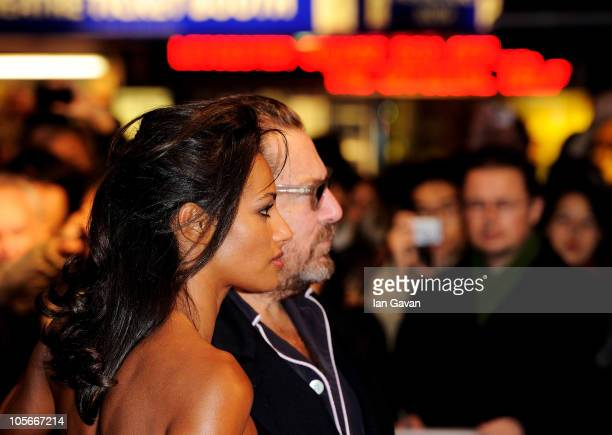 Writer Rula Jebreal and director Julian Schnabel attend the Miral premiere during the 54th BFI London Film Festival at the Vue West End on October 18...