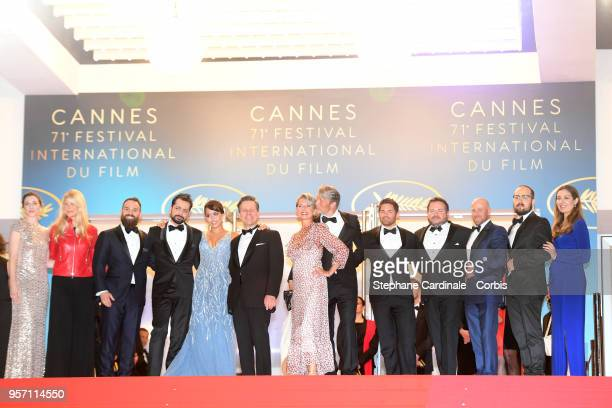 Writer Ryan Morrison director Joe Penna actress Maria Thelma Smaradottir guest Hanne Jacobsen actor Mads Mikkelsen and guests attend the screening of...