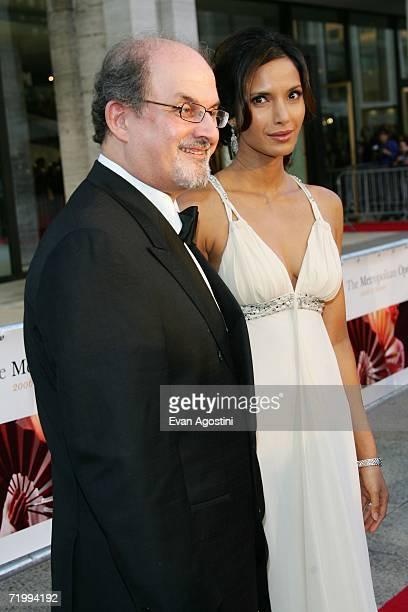Writer Salman Rushdie and model Padma Lakshmi attend the Metropolitan Opera 20062007 season opening night at Lincoln Center September 25 2006 in New...