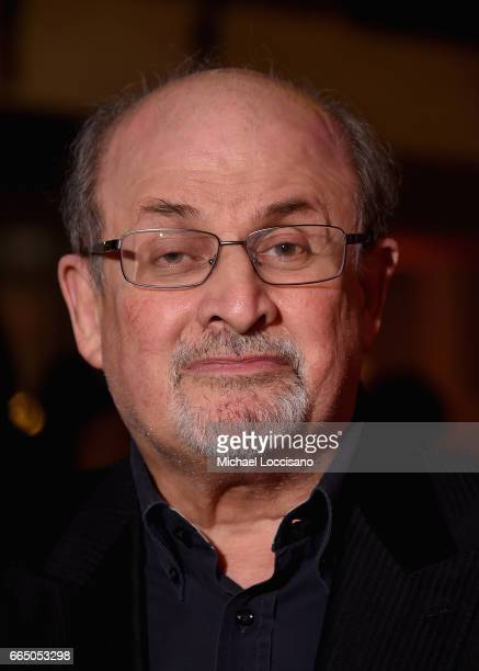 Writer Salman Rushdie attends the Eighth Annual Women In The World Summit at Lincoln Center for the Performing Arts on April 5 2017 in New York City