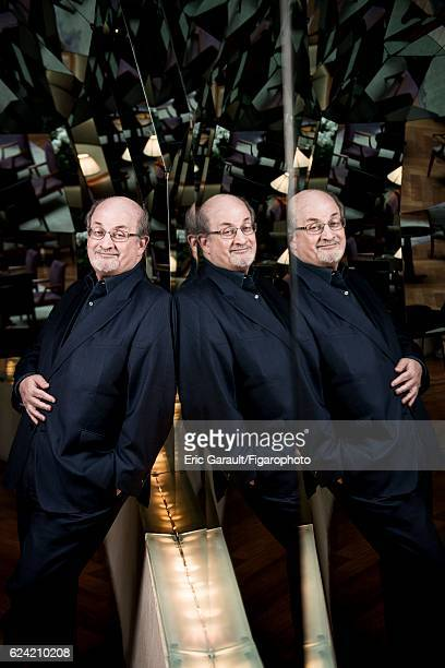 Writer Salman Rushdie is photographed for Le Figaro Magazine on September 12 2016 in Paris France PUBLISHED IMAGE CREDIT MUST READ Eric...