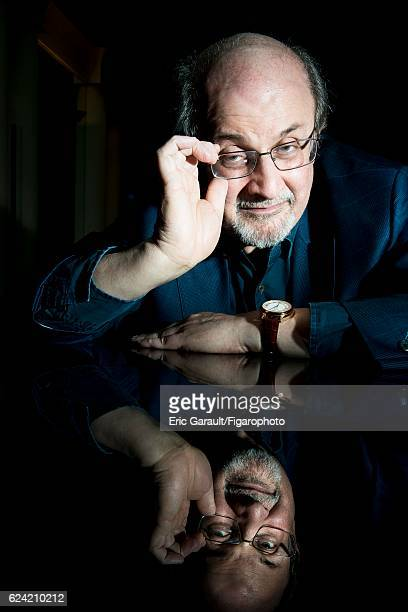 Writer Salman Rushdie is photographed for Le Figaro Magazine on September 12 2016 in Paris France CREDIT MUST READ Eric Garault/Figarophoto/Contour...