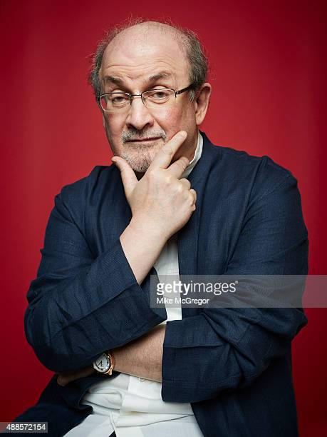 Writer Salman Rushdie is photographed for The Guardian Magazine on July 27 2015 in New York City PUBLISHED IMAGE