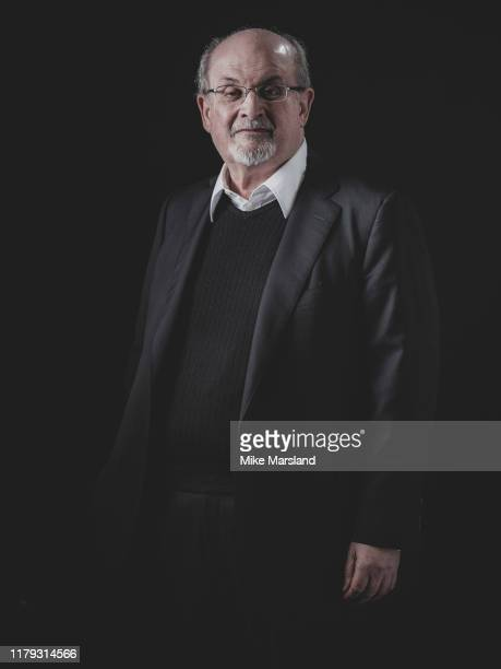 Writer Salman Rushdie is photographed on October 18 2019 at Esquire Town House in London England