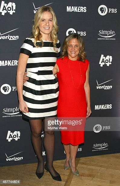 NY OCT 23 Writer Samantha Leibovitz and Executive Producer Dyllan McGee attend the AOL Women In Business New York Screening at New York Stock...