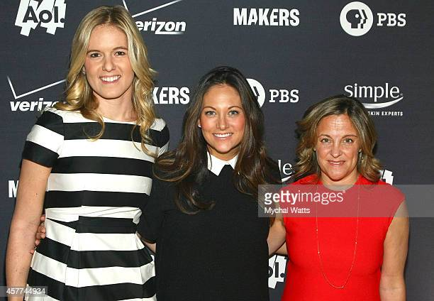 Writer Samantha Leibovitz Senior VP GM of Womens Content and Lifestyle Brands AOL Maureen Sullivan and Executive Producer Dyllan McGee attend the AOL...