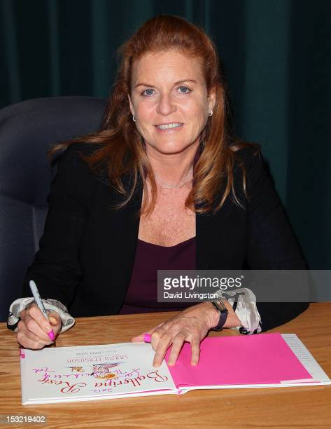 "Writer Sarah Ferguson attends a signing for her book ""Ballerina Rosie"" at Barnes & Noble Booksellers at The Americana on October 1, 2012 in Glendale,..."