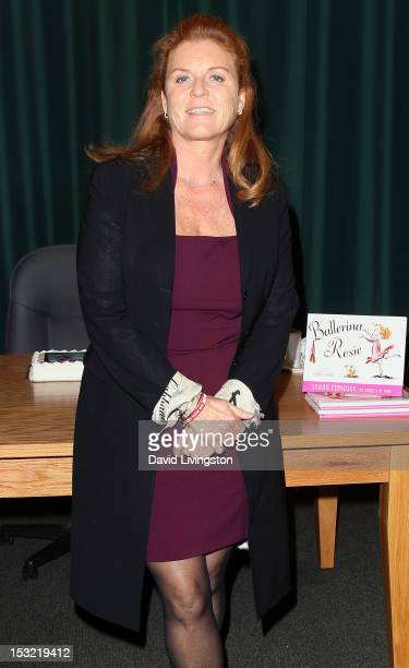 Writer Sarah Ferguson Dutchess of York attends a signing for her book Ballerina Rosie at Barnes Noble Booksellers at The Americana on October 1 2012...