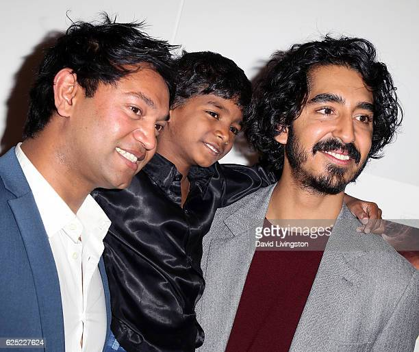 Writer Saroo Brierley and actors Sunny Pawar and Dev Patel attend a Los Angeles special screening of The Weinstein Co's Lion at the Samuel Goldwyn...