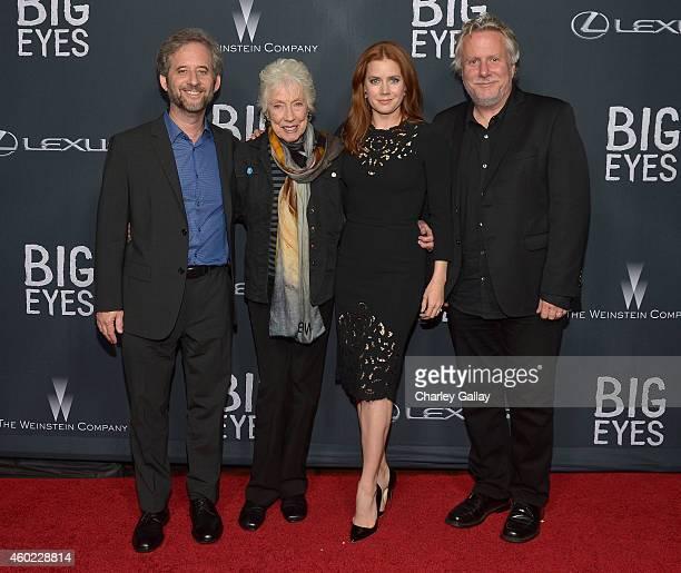 Writer Scott Alexander artist Margaret Keane actress Amy Adams and writer Larry Karaszewski attend The Weinstein Company's Big Eyes Los Angeles...