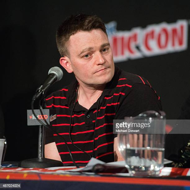 Writer Scott Snyder attends DC Comics 'Batman Gotham Rising' panel during 2014 New York Comic Con Day 2 at Jacob Javitz Center on October 10 2014 in...