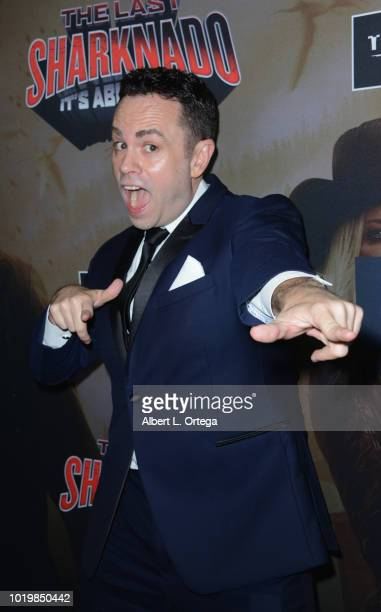 Writer Scotty Mullen arrives for the Premiere Of The Asylum And Syfy's 'The Last Sharknado It's About Time' held at Cinemark Playa Vista on August 19...