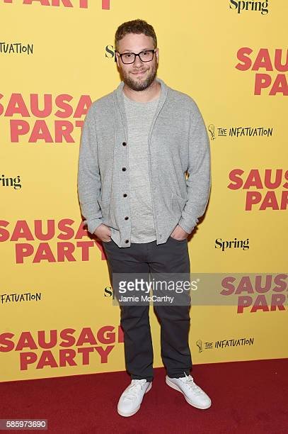 Writer Seth Rogen attends the premiere of Sausage Party at Sunshine Landmark on August 4 2016 in New York City