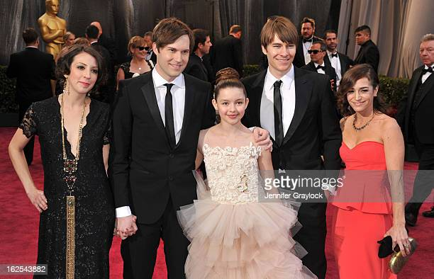 Writer Shawn Christensen and actress Fatima Ptacek attend the 85th Annual Academy Awards at Hollywood Highland Center on February 24 2013 in...