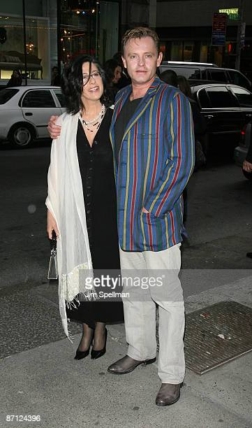 Writer Sheridan Jobbins and writer/director Stephan Elliott attends a screening of Easy Virtue hosted by The Cinema Society and The Wall Street...
