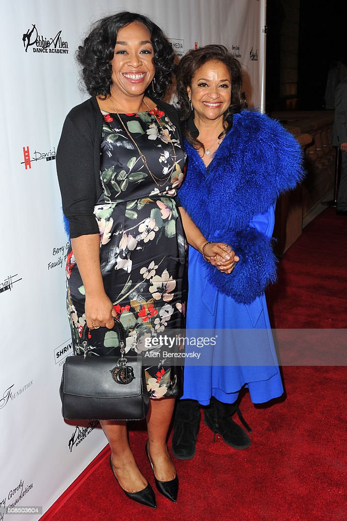Writer Shonda Rhimes and choreographer Debbie Allen attend the U.S. Premiere of Debbie Allen's 'Freeze Frame' at The Wallis Annenberg Center for the Performing Arts on February 4, 2016 in Beverly Hills, California.