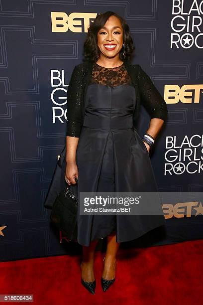 Writer Shonda Rhimes attends Black Girls Rock 2016 on April 1 2016 in New York City