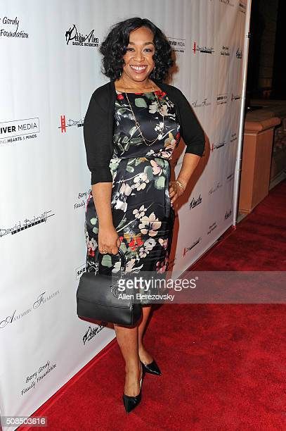 Writer Shonda Rhimes attends the US Premiere of Debbie Allen's 'Freeze Frame' at The Wallis Annenberg Center for the Performing Arts on February 4...