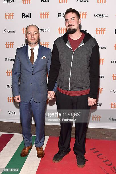Writer Simon Barrett and director Adam Wingard attend the Blair Witch premiere during the 2016 Toronto International Film Festival at Ryerson Theatre...