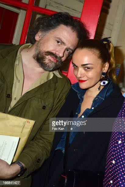 Writer Simon Liberati and designer Yazbukey attend 'Les Racines De La Ville' Aramy Machry' s Photo Exhibition Preview At 'Le Plac Art' Gallery on...