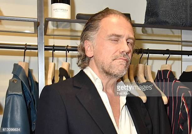Writer Simon Liberati attends the Vivienne Westwood New Paris Store Opening Cocktail as part of the Paris Fashion Week Womenswear Spring/Summer 2017...