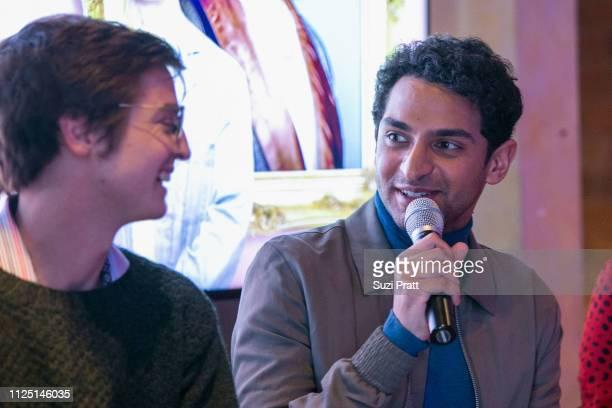 Writer Simon Rich and actor Karan Soni speak on a panel on January 26 2019 in Park City Utah